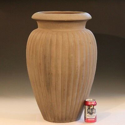 Large Pottery Antique Vintage Lobed Garden Urn Floor Vase Peters & Reed Galloway