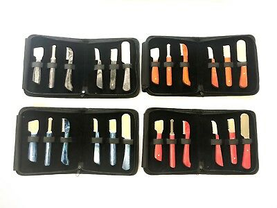 Dog Grooming Hand Stripping Set /  6 Knifes