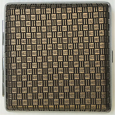 Eclipse Woven Design Leatherette Crushproof Cigarette Case Wallet, Hold 20 Kings