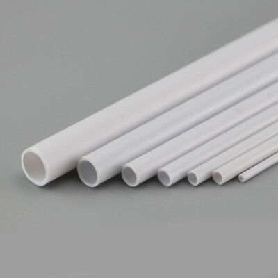 ABS Hollow Tube Plastic 2mm 2.5mm 3mm 4mm 5mm 6mm OD for Moedl Toys Crafts