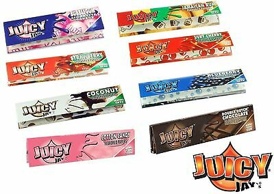 5 Packs of mixed flavours Juicy Jay Kingsize Rolling Papers