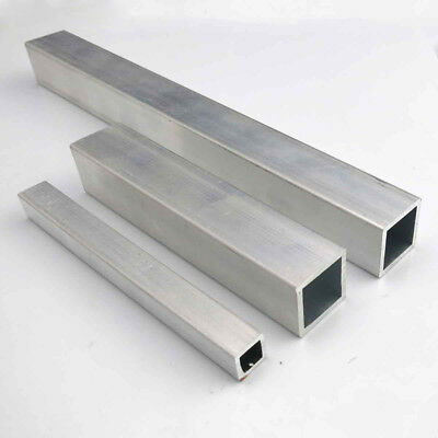 Aluminum Square Tube Metal Alloy Box Tubing 100/150/200/400mm Length Model DIY