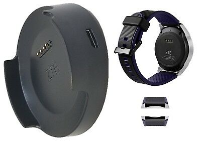 ZTE Quartz ZW10 Smart Watch Charger Cradle w/ USB & Replacement Strap Band
