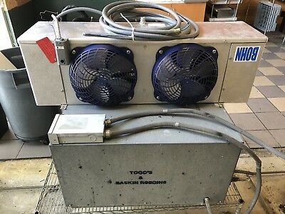WALKING COOLER condenser, with the fan