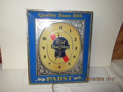 Old Vtg Style PABST BLUE RIBBON ADVERTISING SIGN BEER CLOCK