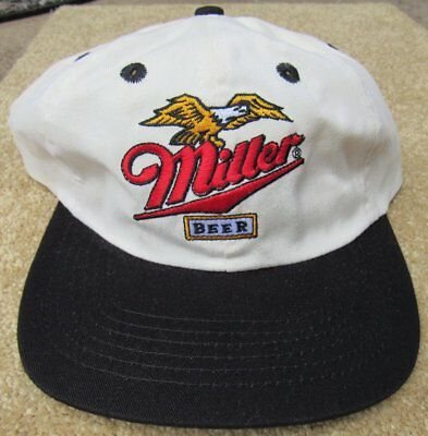 Vintage Miller Beer Eagle Trucker Baseball Hat NEW Old Stock Cap Official
