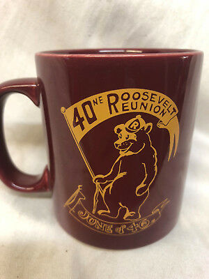 Roosevelt High School Reunion Mug Class 1946 Teddies Bear Minneapolis Minnesota