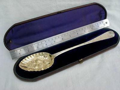 Fine Georgian Berry Basting Spoon By James Barber & William Whitwell York 1821.