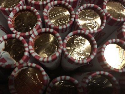 18 Rolls 2017 P Lincoln Cent Shield Pennies Uncirculated.  ***free Shipping***