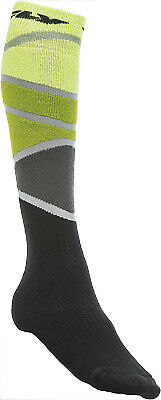 Fly Racing Mx Sock Thick Lime/green/black S/m 350-0425S