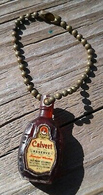 Vintage Calvert Reserve Blended Whiskey Bottle Advertising Key Chain