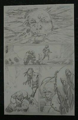 Wonder Woman: Odyssey of the Amazons Ryan Benjamin Original Art page DC Comics