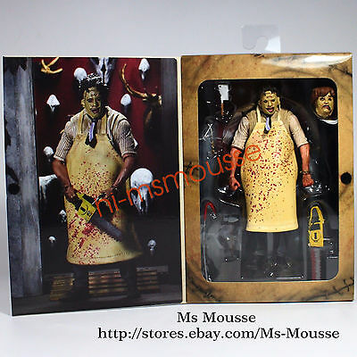 "NECA Texas Chainsaw Massacre Leatherface 7"" Action Figure 40th Anniversary Doll"