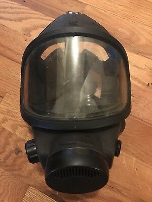 MSA Military Grade Black Tactical Full Face Gas Mask Used Surplus - Medium