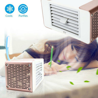 Humifider LED Light Air Flow Cooler Fan Mini Home Office Desktop Air Conditioner