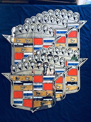 6 Circa 1960s Cadillac dealer showroom Mylar adhesive decals PRICE IS FOR ALL 6!