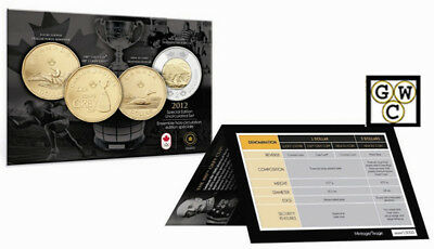 2012 Spl.Edition UNC Set(Lucky Loonie, Grey Cup $1,New Design $1& $2)(13050)OOAK