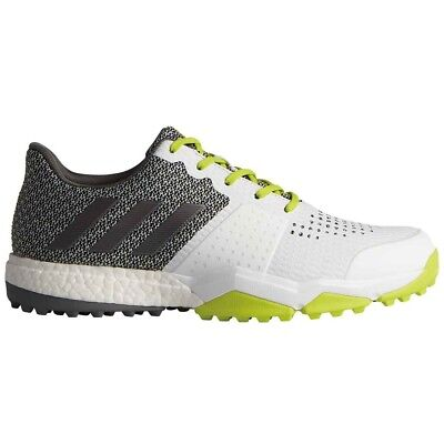 new products 1c1a4 3685f New Adidas AdiPower Sport Boost 3 Golf Shoes White Silver Yellow Q44884