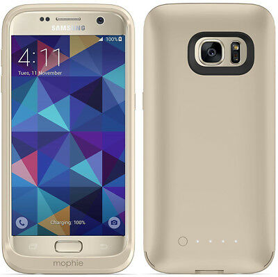 mophie Juice Pack Wireless Battery Charging Case For Samsung Galaxy S7 - Gold