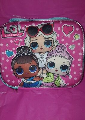 """LOL SURPRISE DOLL 3D Lunch Box School 9.5"""" INSULATED BOUTIQUE  BAG  Miss BABY"""