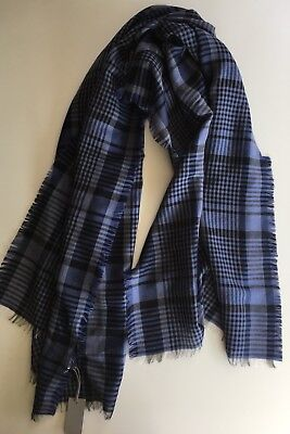 "NWT Authentic Tom Ford Plaid Cashmere/ Wool Mens Scarf Italy 26""x72"""