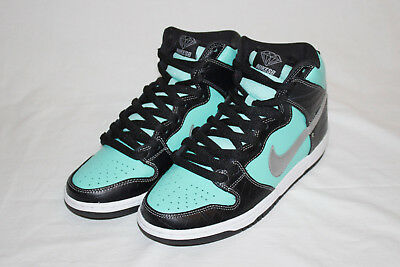 e20c775ba34 NIKE DUNK HIGH Premium SB DIAMOND SUPPLY CO Size 11 AQUA CHROME ...