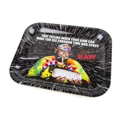 "RAW OOPS Large Metal Rolling Tray ( 14"" x 11"")- 1 Tray-"