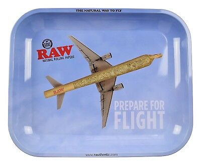 "RAW ""Prepare For Flight"" Rolling Tray (13"" x 11"")- 1 Tray-"