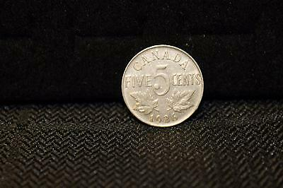 Canada 1936 Nice Small 5 cents Nickel Canadian five George V  coins