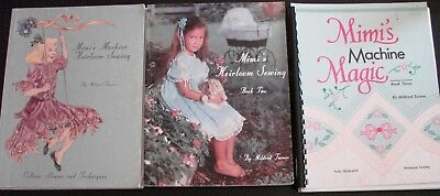 1987 Mimi's Machine Heirloom Sewing Books 1, 2 & 3 Mildred Turner softcovers