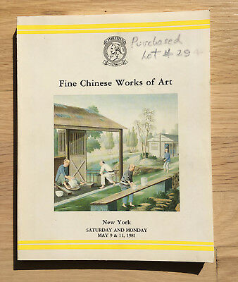 Christie's Fine Chinese Works of Art NEW YORK May 9 & 11, 1981
