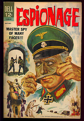 Espionage #1 Very Nice First Issue Dell File Copy Comic 1964 FN-VF