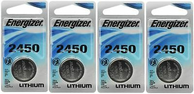 4 x Super Fresh Energizer CR2450 ECR 2450 3v LITHIUM Coin Cell Battery Exp. 2026