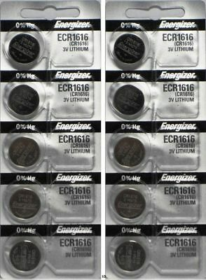 10 Pack Fresh ENERGIZER CR1616 BATTERY 3V LITHIUM CR 1616 DL1616 BR1616 EXP 2024