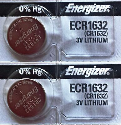 2 Piece FRESH ENERGIZER CR1632 ECR1632 1632 3V Lithium Coin Battery Expire 2025