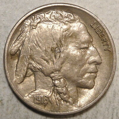 1916-S Buffalo Nickel, Choice Almost Uncirculated, Original Slider     1121-25