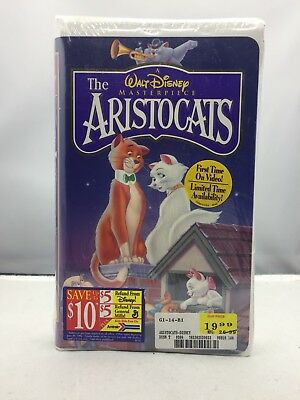 The Aristocats VHS (1996) NEW / SEALED! Walt Disney Masterpiece Collection