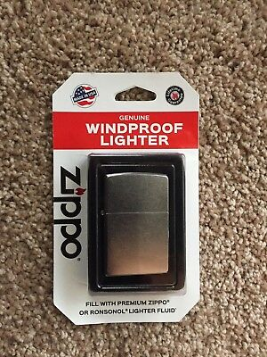 Zippo Genuine Windproof Chrome Lighter Made in USA New In Box