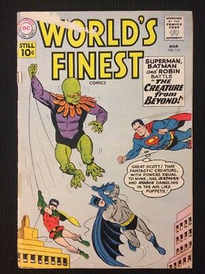 World's Finest #116 Silver Age 1961 Gd-/Gd