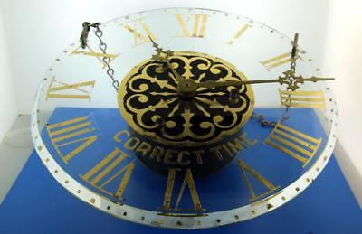 C72. New Haven Vintage Glass Dial Wall Clock, Runs, 10 Inches In Diameter