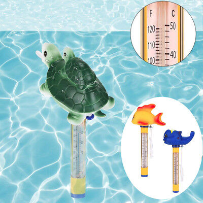 Cute Animal Fish Floating Pool Thermometer for Outdoor/Indoor Spa Swimming Pools
