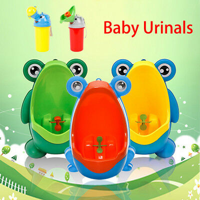 Cute Cartoon Frog Baby Potty Training Toilet Urinal Girls Boys Kids Portable