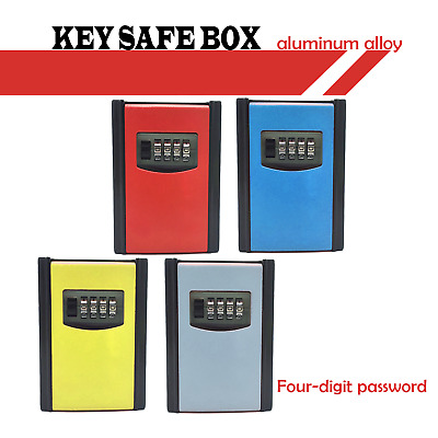 4-Digit Combination Lock  Key Safe Box Storage  Wall Mounted  Weather Resistant