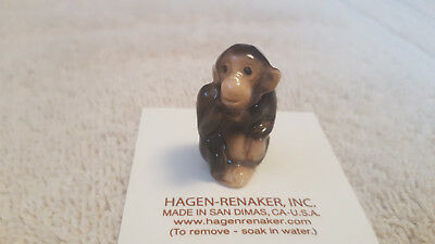 Hagen Renaker Monkey Figurine Miniature Collect Gift New Free Shipping 00414