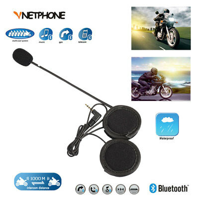 V4&V6 Helmet Intercom Headset Durable Rider with Speaker Outdoor 1248