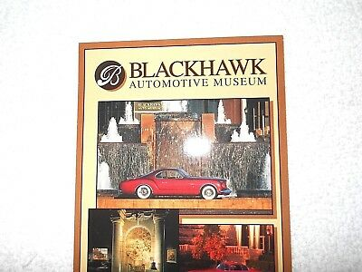 Blackhawk Automotive Museum Advertising Pamphlet California Near Mint Condition
