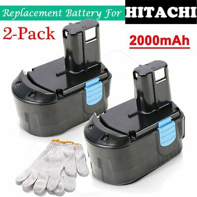 2Packs NEW 18-Volt 2.0Ah NiCd Battery f HITACHI EB1820L EB1820 EB1812S C18DL SW