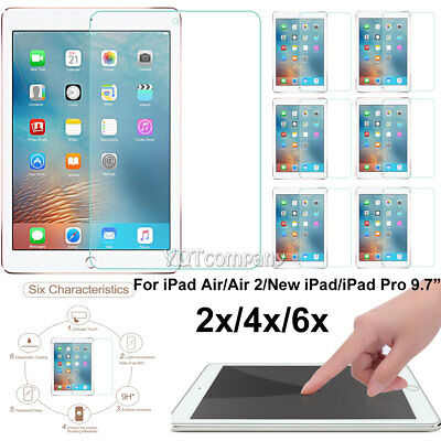 "HD Clear Tempered Glass Screen Protector For New iPad 6th Generation 9.7"" 2018"