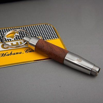 FINE (BELLO) cohiba acciaio inox WOOD Sigari Punch ACCESSORI Twist RETRATTILE