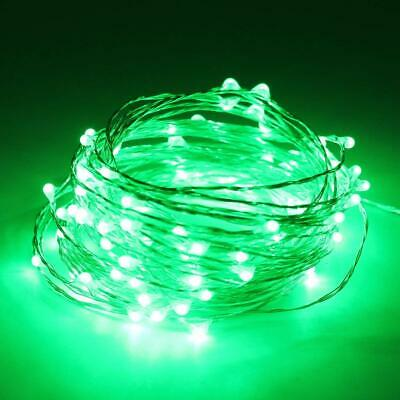 2/3/4/5/10M White Pink Green Multi-color LED Copper Wire Fairy Lights Bedroom OZ